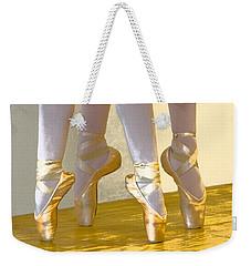 Ballet Second Position In Gold Weekender Tote Bag