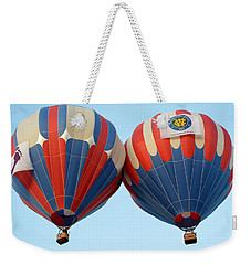 Weekender Tote Bag featuring the photograph Balloon Bump by AJ Schibig