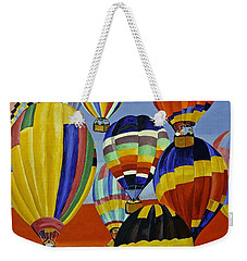 Balloon Expedition Weekender Tote Bag by Donna Blossom