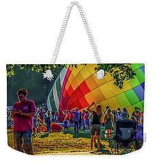 Weekender Tote Bag featuring the photograph Balloon Fest Spirit by Kendall McKernon