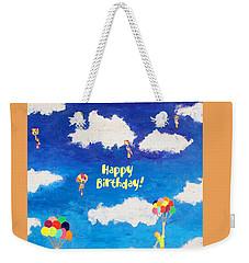 Balloon Girls Birthday Greeting Card Weekender Tote Bag