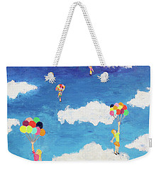 Balloon Girls Weekender Tote Bag by Thomas Blood