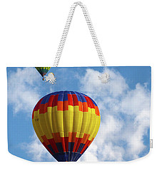 Weekender Tote Bag featuring the photograph Balloons In The Cloud by Marie Leslie