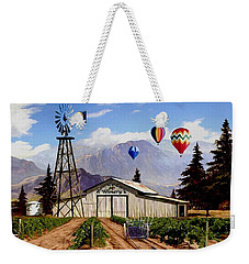 Balloons Over The Winery 1 Weekender Tote Bag by Ron Chambers