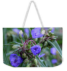 Weekender Tote Bag featuring the photograph Balmy Blue by Michiale Schneider