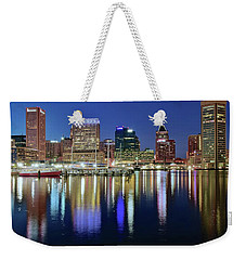 Baltimore Blue Hour Weekender Tote Bag by Frozen in Time Fine Art Photography