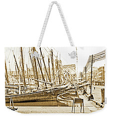 Baltimore Harbor 1900 Vintage Photograph Weekender Tote Bag by A Gurmankin