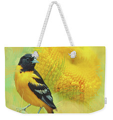 Baltimore Oriole Watercolor Photo Weekender Tote Bag