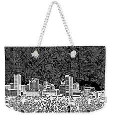 Baltimore Skyline Abstract 12 Weekender Tote Bag
