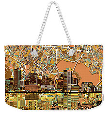 Baltimore Skyline Abstract 2 Weekender Tote Bag by Bekim Art