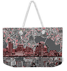 Baltimore Skyline Abstract Weekender Tote Bag by Bekim Art