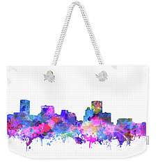 Weekender Tote Bag featuring the painting Baltimore Skyline Watercolor 4 by Bekim Art