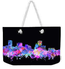 Weekender Tote Bag featuring the painting Baltimore Skyline Watercolor 5 by Bekim Art