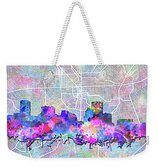 Weekender Tote Bag featuring the painting Baltimore Skyline Watercolor 6 by Bekim Art