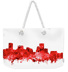 Weekender Tote Bag featuring the painting Baltimore Skyline Watercolor 7 by Bekim Art
