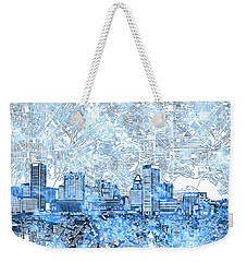 Weekender Tote Bag featuring the painting Baltimore Skyline Watercolor 9 by Bekim Art