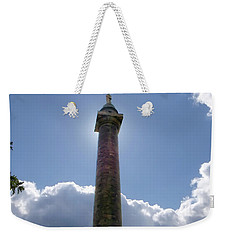 Weekender Tote Bag featuring the photograph Baltimore's Washington Monument by Brian Wallace