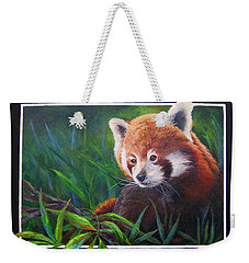 Bamboo Basking--red Panda Weekender Tote Bag