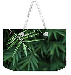 Bamboo Leaves Background Weekender Tote Bag