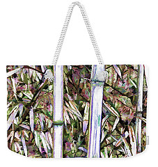 Weekender Tote Bag featuring the painting Bamboo Stalks by Lanjee Chee