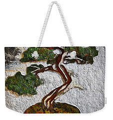 Weekender Tote Bag featuring the painting Bamboo Tree by Joan Reese