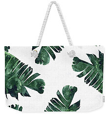 Banan Leaf Watercolor Weekender Tote Bag by Uma Gokhale
