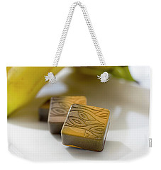 Weekender Tote Bag featuring the photograph Banana Chocolate by Sabine Edrissi