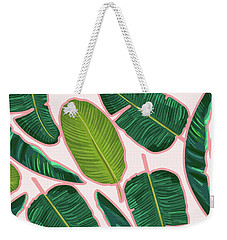 Banana Leaf Blush Weekender Tote Bag