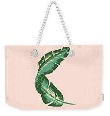 Banana Leaf Square Print Weekender Tote Bag by Lauren Amelia Hughes