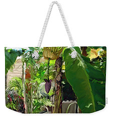 Banana Tree Weekender Tote Bag by David  Van Hulst