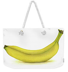 Banana Watercolor Weekender Tote Bag by Taylan Apukovska
