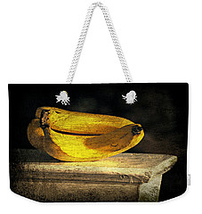Weekender Tote Bag featuring the photograph Bananas Pedestal by Diana Angstadt