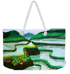 Weekender Tote Bag featuring the painting Banaue by Cyril Maza