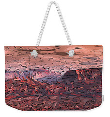 Banded Canyon Abstract Weekender Tote Bag