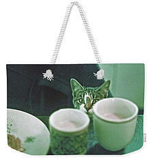 Weekender Tote Bag featuring the photograph Bandit by Laurie Stewart