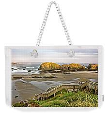 Bandon Beach Stairway Weekender Tote Bag by Thom Zehrfeld