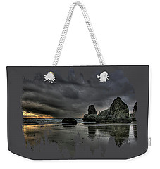 Bandon Beach Storm Weekender Tote Bag
