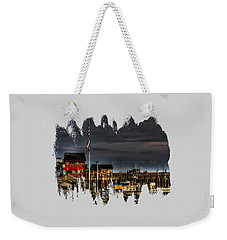 Weekender Tote Bag featuring the photograph Bandon Boat Basin At Dawn by Thom Zehrfeld