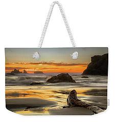 Bandon Orange Glow Sunset Weekender Tote Bag