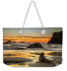 Bandon Orange Glow Sunset Weekender Tote Bag