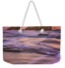 Weekender Tote Bag featuring the photograph Bandon's Breath by Darren White