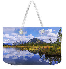 Weekender Tote Bag featuring the photograph Banff Reflection by Chad Dutson