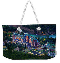 Weekender Tote Bag featuring the photograph Banff Springs Hotel by John Poon