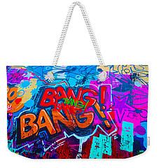 Bang Graffiti Nyc 2014 Weekender Tote Bag by Joan Reese