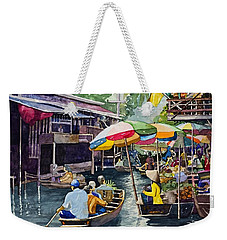 Bangkok's Floating Market Weekender Tote Bag