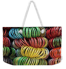 Weekender Tote Bag featuring the photograph Bangles Of India by Tim Gainey