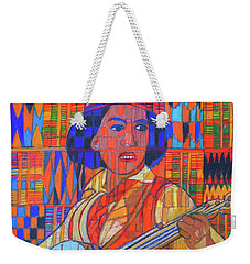 Weekender Tote Bag featuring the painting Banjo-five Strings by Denise Weaver Ross