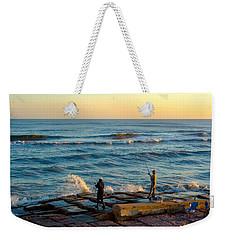 Bank Fishing Weekender Tote Bag