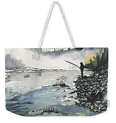 Bank Fishing Weekender Tote Bag
