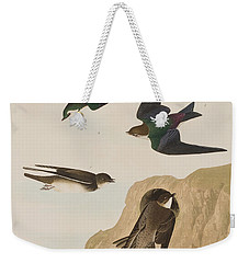 Bank Swallows Weekender Tote Bag by John James Audubon